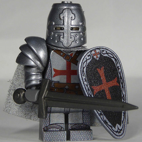 Templar (Silver)  x 10 minifigures with weapons TEMP004
