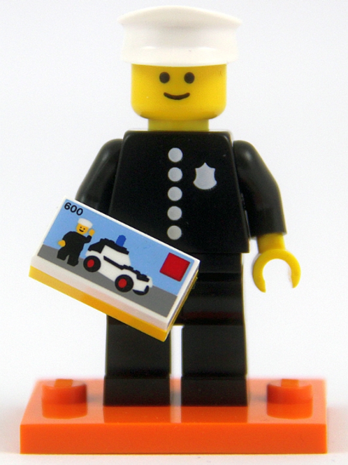 Series 18 Minifigures: Classic Police Officer Lego minifigure,complete