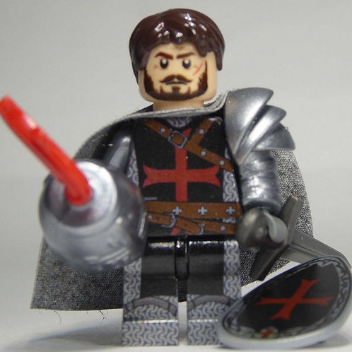 Templar (Red)  x 10 minifigures with weapons TEMP002