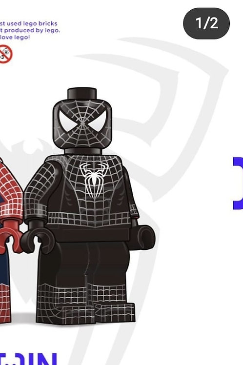 Jin x Spider-man part 3 Symbiote with metallic color