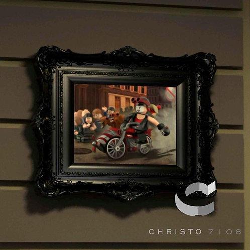 Christo7108 Harley Quinn Gotham City Garage Brickart