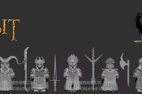 (Trial project) NC 9 Nazgul minifigures