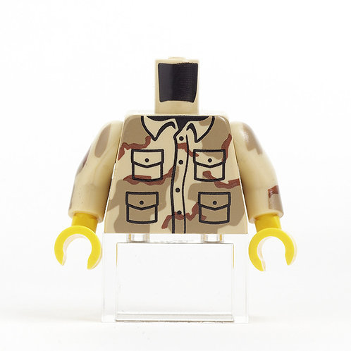 Pad printed soldier camo torso by Citizen Brick