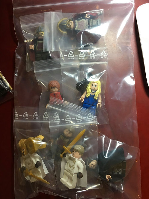 9 Game of Throne minifigs by nice brick & other brand
