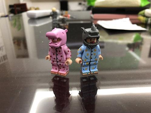 FJ Brick animal series, a pair of mini figure