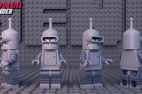 Futurama Bender , by ReBorn minifigure