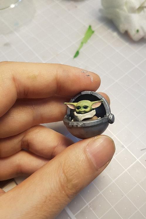 Baby Yoda + cradle  ( 1 pc ) - BaBa Industry Korea