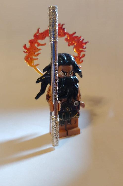 Solid silver weapon ( Ruyi Jingu Bang 如意捧 ) for the Monkey King