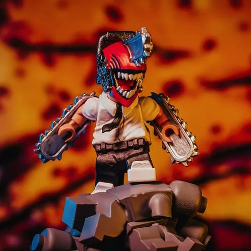 MF chainsaw man statue with base (not minifig) ,