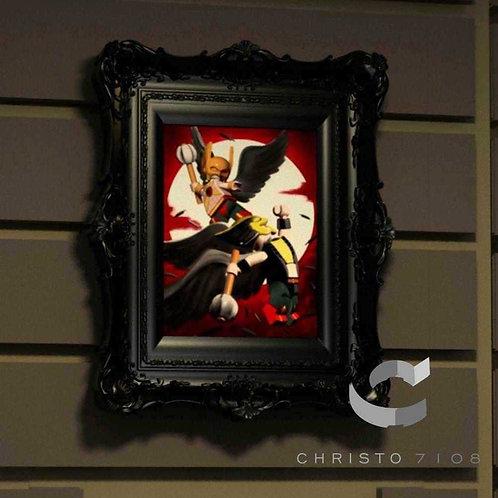 Christo7108 Hawkman and Hawkgirl Brickart
