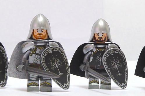 Gondor Soldier x 8 minifigures  LOTR001