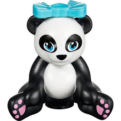 Black Panda, Friends, Sitting with Dark Azure Eyes,Lavender Paws Lego minifigure