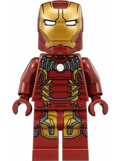 Lego Iron Man Mk 43 (Trans-Clear Head) minifigure - Hulkbuster exclusive