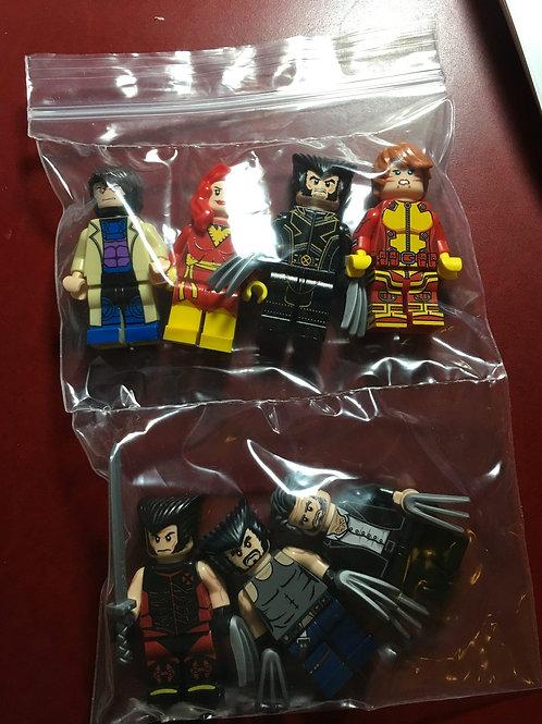 7 Leyile minifigs ( Wolverine , Phoenix , Gambit )