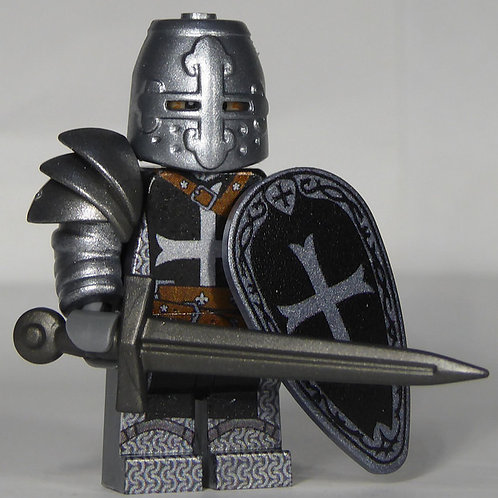 Templar (Black)  x 10 minifigures with weapons TEMP003