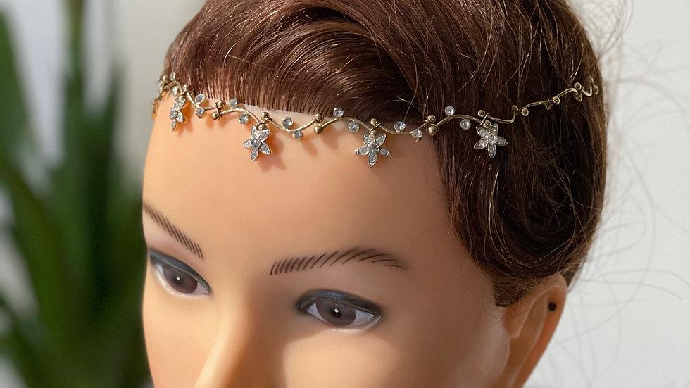Floral Diamante Hair Vine