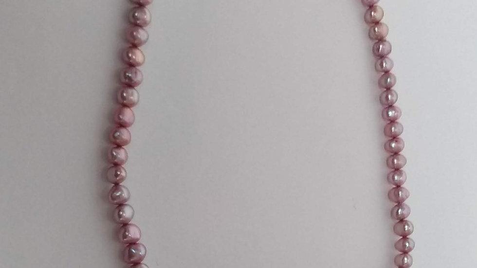 Vintage Pink Pearl Necklace