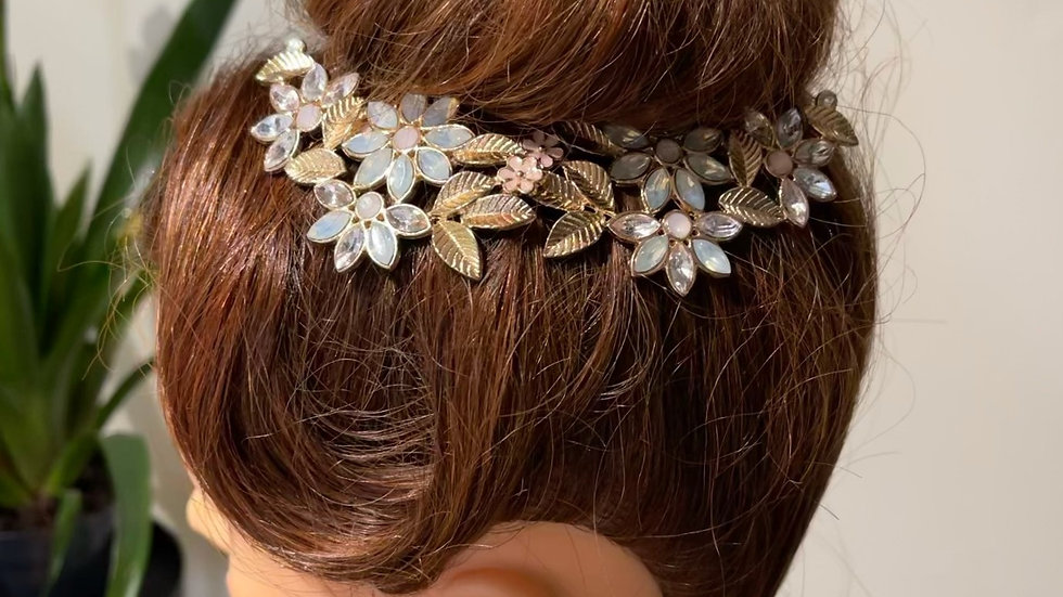 Pastel Botanical Hair Combs