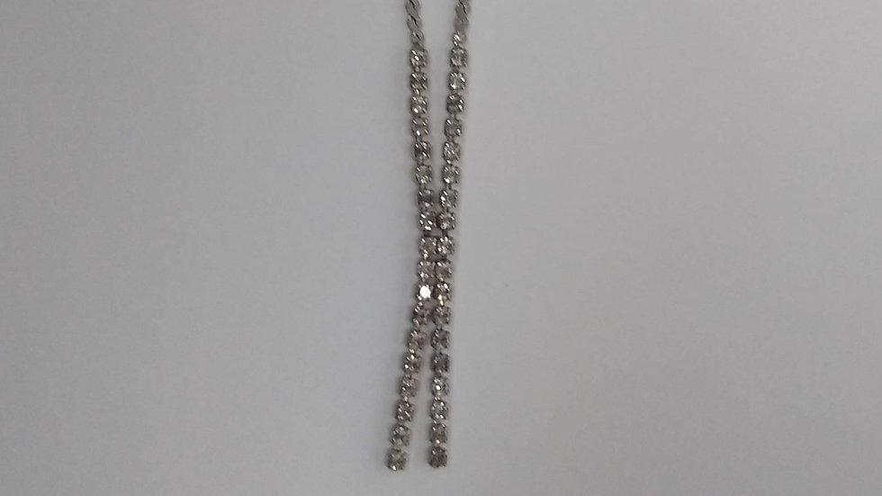 Delicate Diamante Drop Necklace