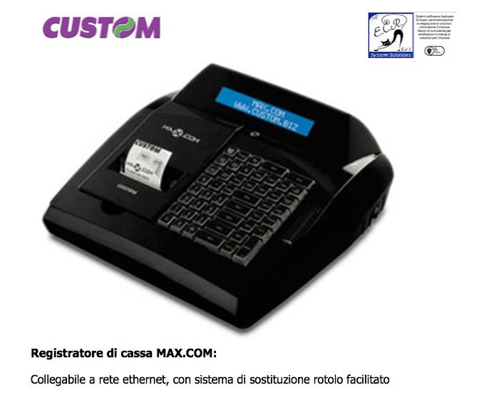Custom Registratore di cassa MAX.COM: