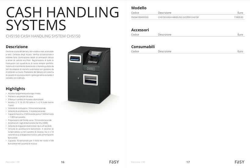CHS150 CASH HANDLING SYSTEM CHS150