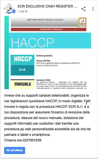 Procedura base haccp Web Ecr