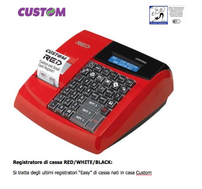 Custom Registratore di cassa RED/WHITE/BLACK: