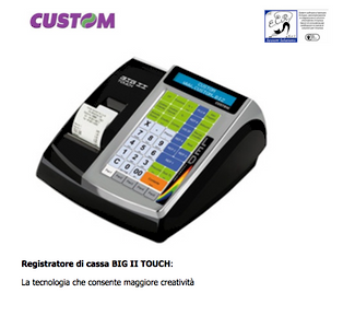 Custom Registratore di cassa BIG II TOUCH: