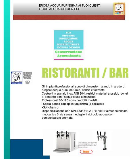 Dispenser produzione acqua depurata microfiltrata