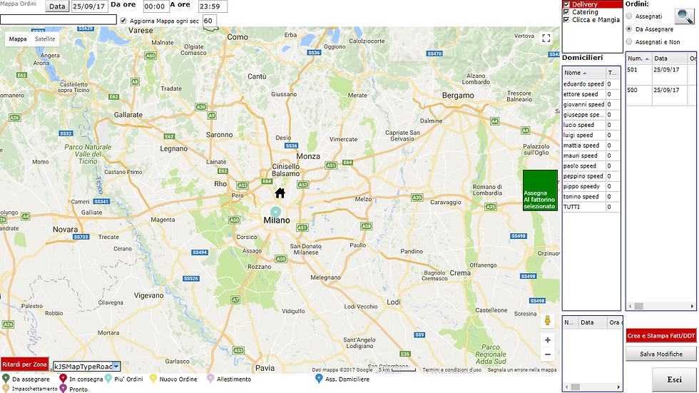 App Delivery e Pgina Web gestione consegne geo prodotti food e non food