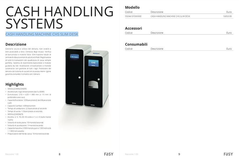 CASH HANDLING MACHINE CHS SLIM DESK