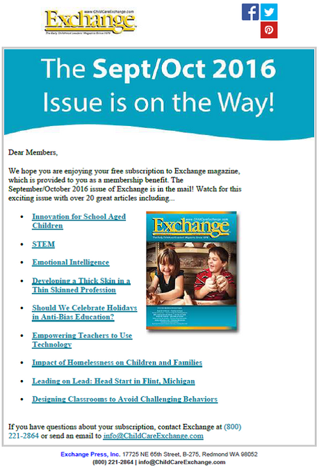 Members Only: Exchange Magazine on the way!