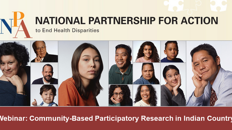Webinar TODAY: Community-Based Participatory Research in Indian Country