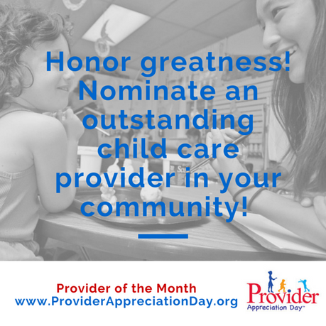 Recognize Greatness through the Provider of the Month Program
