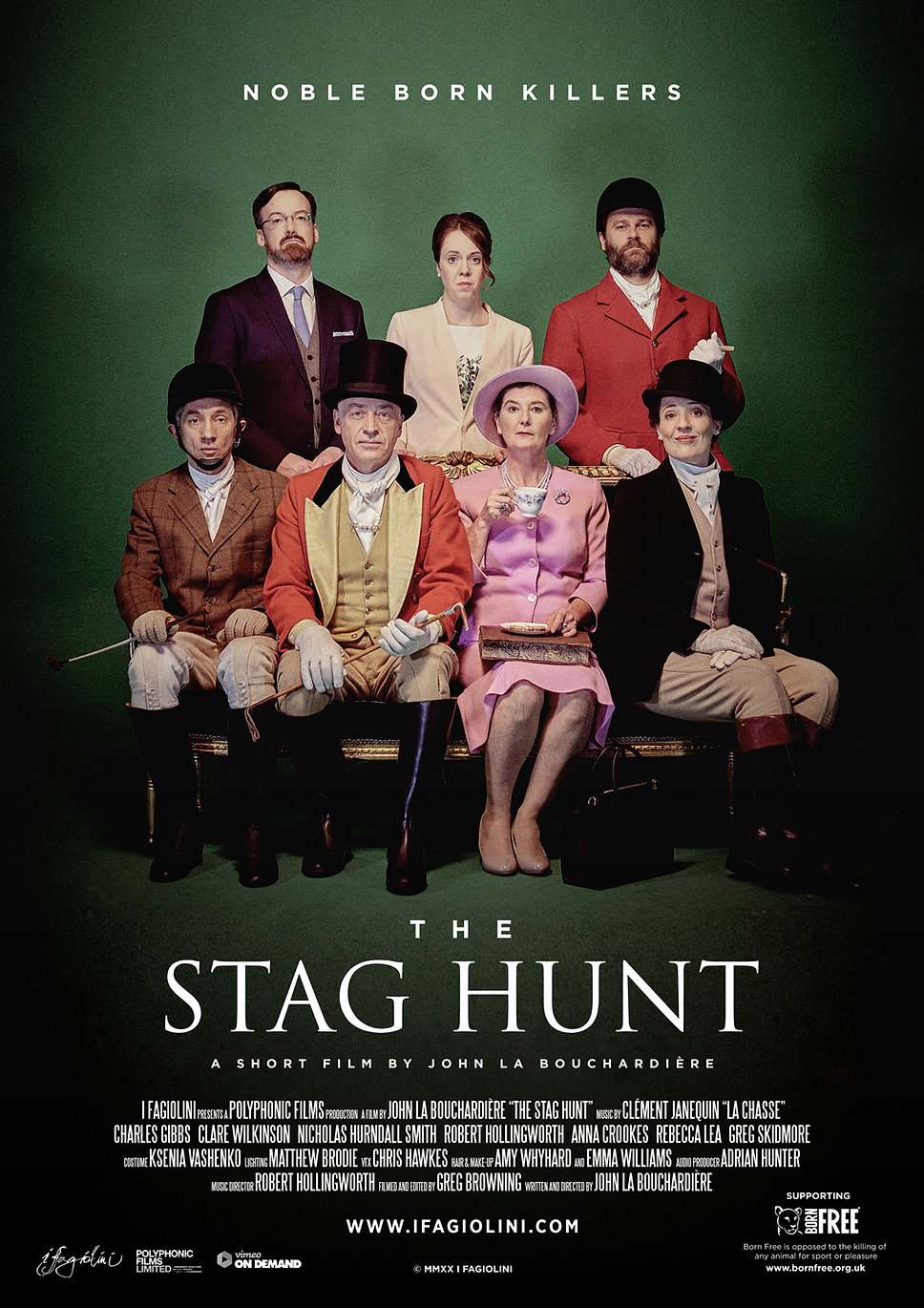 Poster for The Stag Hunt, a short film by John La Bouchardière