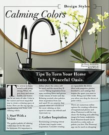 Calming Colors | Diana Hathaway Living L