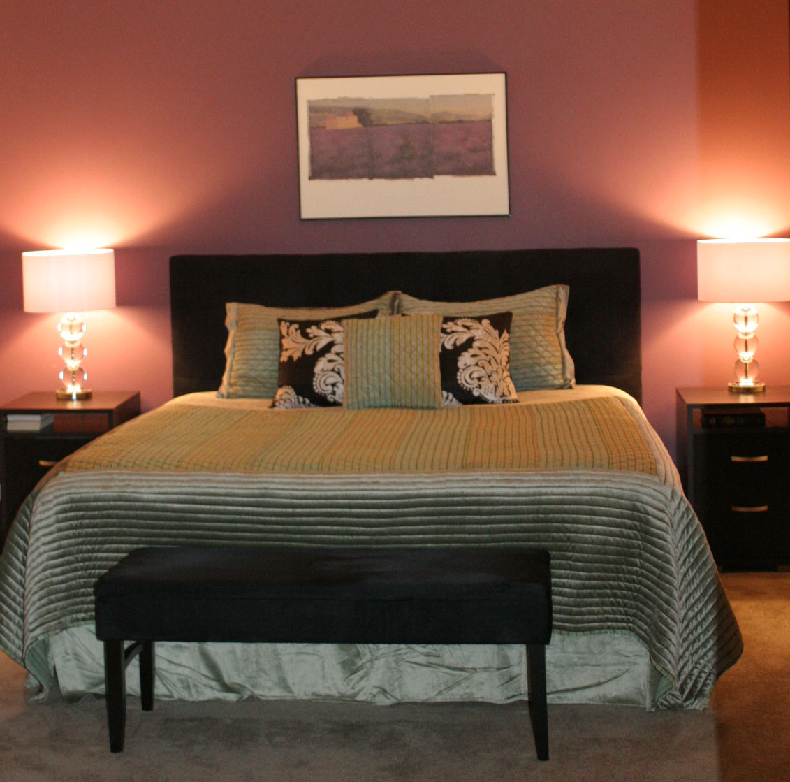 Plum Colors For Bedroom Walls Diana Hathaway Timmons Contemporary In Plum