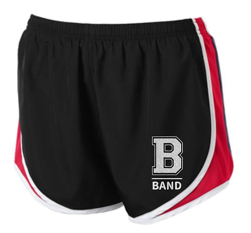 """B"" Band Ladies Running Shorts"