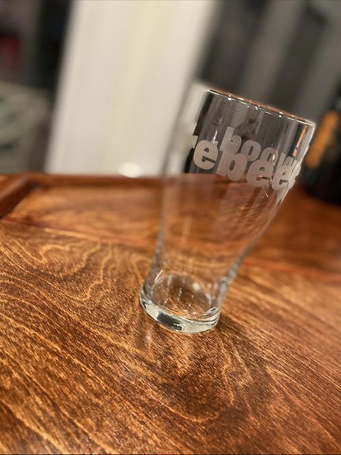 """Etched """"wearebeechwood"""" Drinking Glass"""