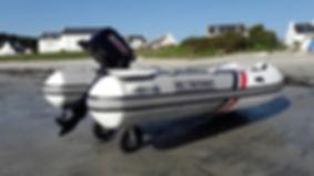 Boat with wheels 3D Tender Beachmaster wheels
