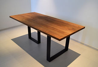Contemporary designer solid wood dining table