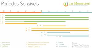 períodos sensíveis do método montessori