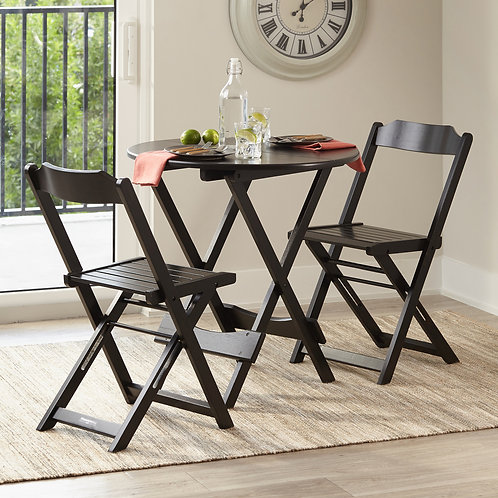 Round Table Set with 2 Chairs