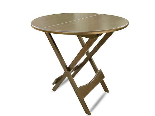 Folding Round Table - Mahogany
