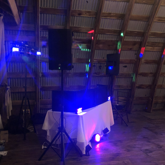 Basic Wedding set up w/dance floor lighting