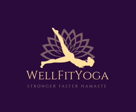 Well Fit Yoga Logo Design