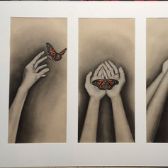 Stages of Grief Triptych