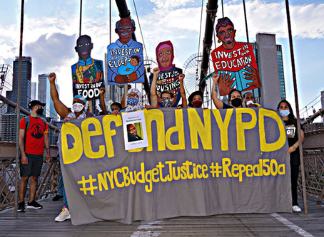 [amNY] Hundreds of people join 'Occupy City Hall' Thursday night to call for police defunding