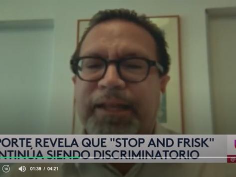 [Univision] Informe revela que práctica de 'stop and frisk' en NY sigue afectando más a las minorías