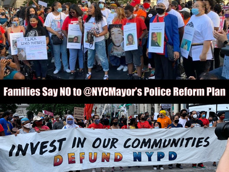 Families Who Have Lost Loved Ones to the NYPD Slam De Blasio Police Reform Plan